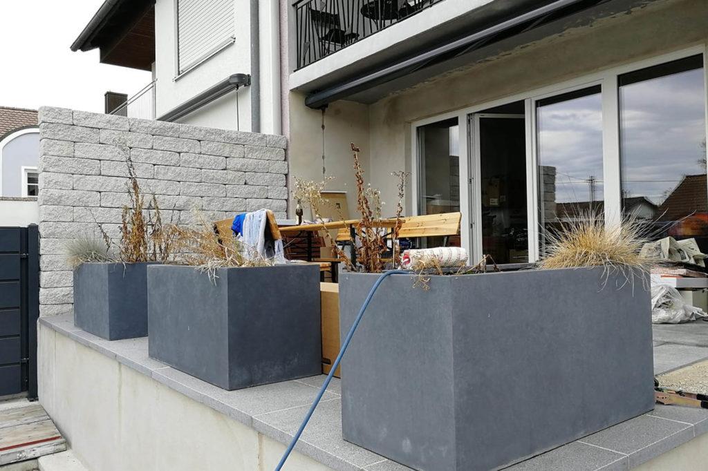 Sichtschutz für die erhöhte Terrasse